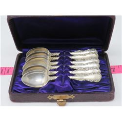 6 VINTAGE STERLING SILVER 92.5 SPOONS