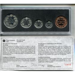 1998 RCM SILVER PROOF SET LRG PENNY TO 50 CENT PC