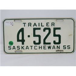 1955 SK TRAILER LICENSE PLATE