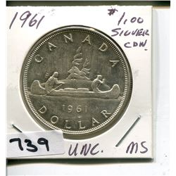 1961 CNDN SILVER 50 CENT PC