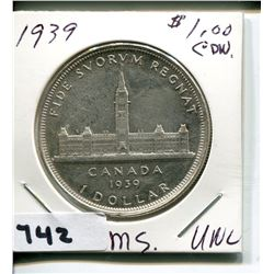 1939 CNDN SILVER 50 CENT PC