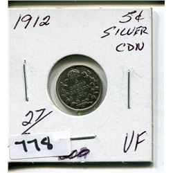 1912 CNDN SILVER SMALL 5 CENT PC
