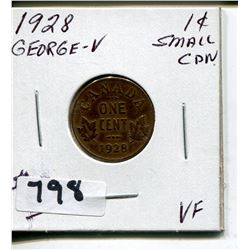 1928 GEORGE V CNDN SMALL PENNY