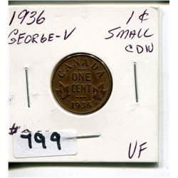 1936 GEORGE V CNDN SMALL PENNY