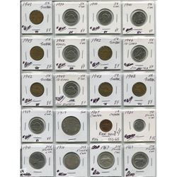 PAGE OF CNDN COINS LARG PENNIES TO HALF DOLLAR 1910 - 1967