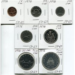 SPECIMEN SET 1976 PENNY TO DOLLAR