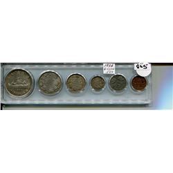 1936 SET OF 6 CNDN COINS PENNY TO DOLLAR