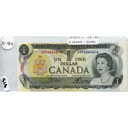 1973 CNDN ONE DOLLAR BANK NOTE UNCIRCULATED