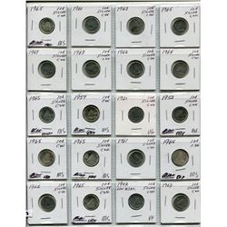 PAGE OF 20 CNDN SILVER DIMES 1921-1965