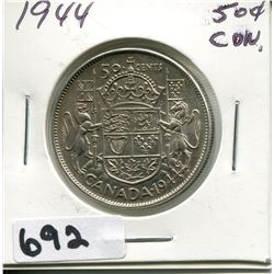 1944 CANADA SILVER 50 CENT PIECE