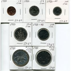 1980 CNDN COINS FROM PENNY TO DOLLAR