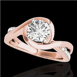 1.15 CTW H-SI/I Certified Diamond Solitaire Ring 10K Rose Gold - REF-163Y6K - 34836