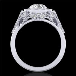 1.75 CTW VS/SI Diamond Solitaire Art Deco Ring 18K White Gold - REF-436K4W - 37319