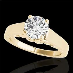 1 CTW H-SI/I Certified Diamond Solitaire Ring 10K Yellow Gold - REF-227A3X - 35139