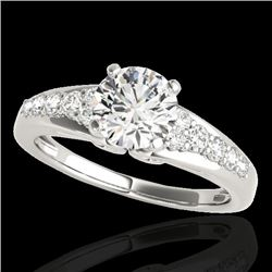 1.4 CTW H-SI/I Certified Diamond Solitaire Ring 10K White Gold - REF-218A2X - 34996