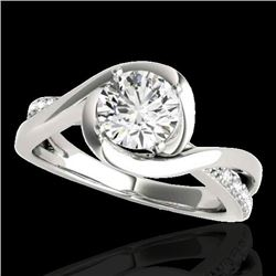 1.15 CTW H-SI/I Certified Diamond Solitaire Ring 10K White Gold - REF-163T6M - 34835