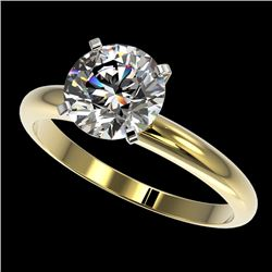 2 CTW Certified H-SI/I Quality Diamond Solitaire Engagement Ring 10K Yellow Gold - REF-615X2T - 3293