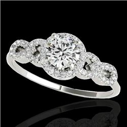 1.33 CTW H-SI/I Certified Diamond Solitaire Ring 10K White Gold - REF-213T6M - 35313