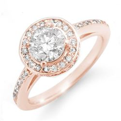 1.75 CTW Certified VS/SI Diamond Ring 14K Rose Gold - REF-429F8N - 11764
