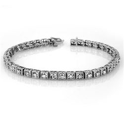 1.0 CTW Certified VS/SI Diamond Bracelet 10K White Gold - REF-87X5T - 10733
