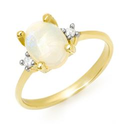 1.28 CTW Opal & Diamond Ring 10K Yellow Gold - REF-22K2W - 13337