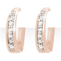 0.20 CTW Certified VS/SI Diamond Earrings 14K Rose Gold - REF-36Y2K - 12770