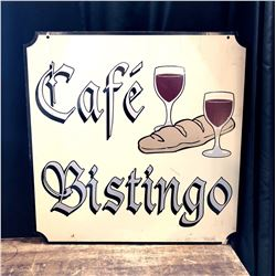 "Double Sided ""Cafe Bistingo"" Restaurant Sign"