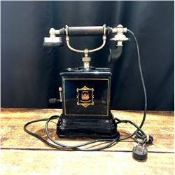 "Antique Danish Hand Crank ""Jydsk"" Telephone"