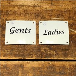 Pair of Enamel Gents/Ladies Signs