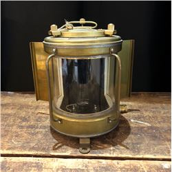 Vintage Brass NOS 1960s Nautical Light