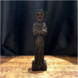 Vintage Hand Carved Wood Religious Figure