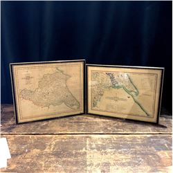 Pair of Antique English Maps