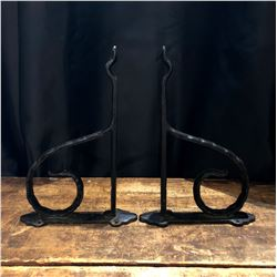 Pair of Vintage Cast Metal Plant Hangers
