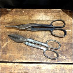 Pair of Antique Forged Steel Cutters
