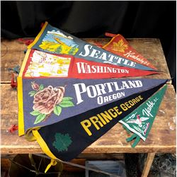 Lot of Vintage Pennants