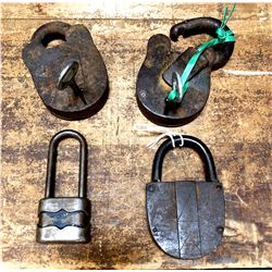 Lot of 4 Antique Locks