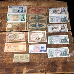 Lot of Various Old Paper Money