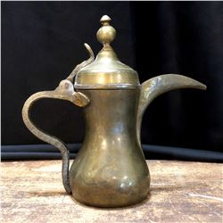 Vintage Middle Eastern Brass Tea Pot