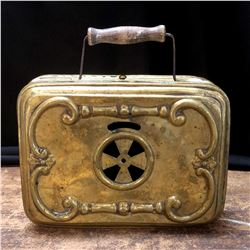 Antique French Brass Carriage Warmer