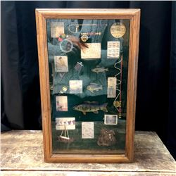 Vintage Fishing Theme Shadowbox