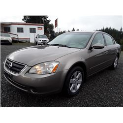 K1 --  2004 Nissan Altima , Brown , 211864  KM's