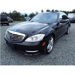 K3 --  2012 Mercedes-Benz S 550V 4 Matic , Black , 77548  KM's