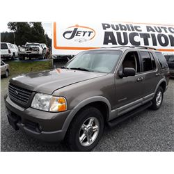 I2 --  2002 Ford Explorer XLT , Brown , 181310  KM's