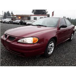 L4 --  2004 Pontiac Grand Am SE , Red , 175416  KM's