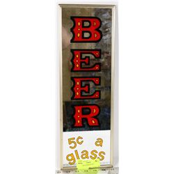 5 CENT BEER MIRROR SIGN