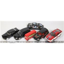 FLAT OF 6 DIE CAST CARS