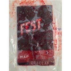 Hell Fest (2018) Screen Used Bloody Dead Lands Map Movie Props