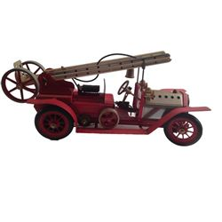 "Vintage ""Mamod"" Fire Engine Toy Model"