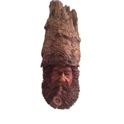 Driftwood Carved Face