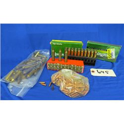 Lot of 243 Win Brass and Projectiles